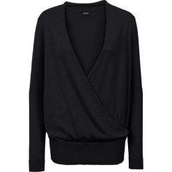 Sweter kopertowy bonprix czarny. Swetry damskie marki bonprix. Za 74.99 zł.