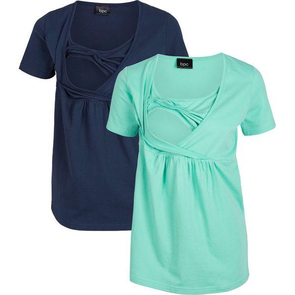 6155fd1086 Shirt ciążowy i do karmienia bonprix ciemnoniebiesko-niebieski ...