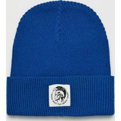 Diesel - Czapka. Niebieskie czapki i kapelusze męskie Diesel. Za 229.90 zł.
