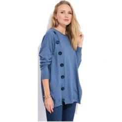 Fille Du Couturier Sweter Damski Bethanie 38 Niebieski. Niebieskie swetry damskie Fille Du Couturier, z materiału. W wyprzedaży za 269.00 zł.