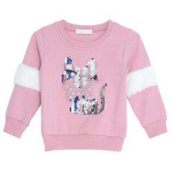 Różowa Bluza Wisdom. Czerwone bluzy dla dziewczynek Born2be. Za 34.99 zł.