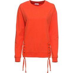 Bluza ze sznurowaniem, długi rękaw bonprix mandarynkowy. Bluzy damskie marki KALENJI. Za 49.99 zł.
