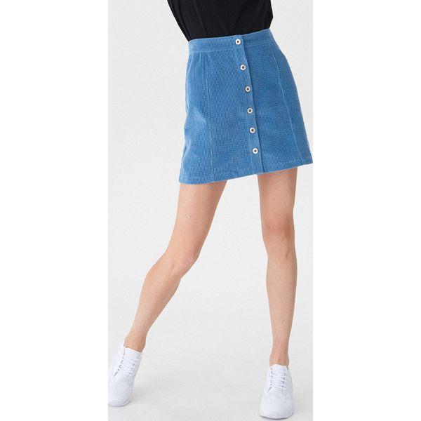21d8d381 Sztruksowa spódnica z guzikami - Granatowy