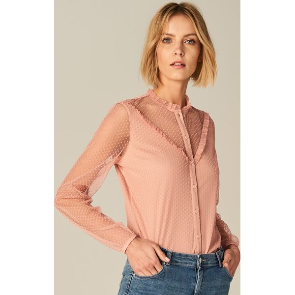 Mohito Koszule Tkaniny Różowy Plumeti Damskie Z Koszula Marki hQCxdtrsB