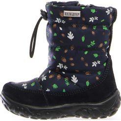 """Kozaki zimowe """"Pocks"""" w kolorze granatowym. Buty zimowe dziewczęce Zimowe obuwie dla dzieci. W wyprzedaży za 172.95 zł."""