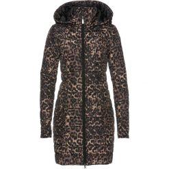 Płaszcz pikowany z nadrukiem bonprix czarno-cappuccino z nadrukiem. Płaszcze damskie marki FOUGANZA. Za 189.99 zł.