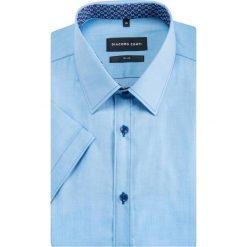 Koszula MICHELE slim KKNS000032. Niebieskie koszule męskie Giacomo Conti, z bawełny, z klasycznym kołnierzykiem, z krótkim rękawem. Za 199.00 zł.