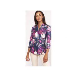 Koszula o luźnym kroju, K111 kwiaty. Szare koszule damskie Lanti, na jesień, w kwiaty. Za 119.00 zł.