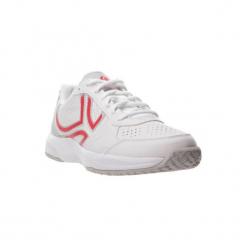 Buty tenisowe TS160 damskie. Białe obuwie sportowe damskie ARTENGO, z kauczuku. W wyprzedaży za 79.99 zł.
