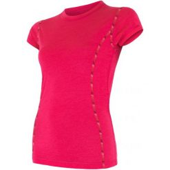 Sensor Koszulka Termoaktywna Merino Air W Magenta M. Czerwone koszulki sportowe damskie Sensor, z materiału, z krótkim rękawem. Za 195.00 zł.
