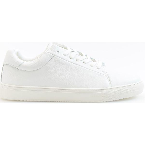 2bb7550de8095 W Marki Męskie Reserved Biały Skórzane Białe Trampki x7qRwOp