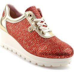 Czerwone buty damskie sznurowane, kolekcja wiosna 2020