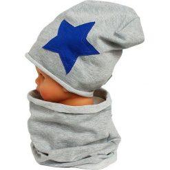 Czapka bawełniana z kominkiem W-085C. Szare czapki dla dzieci Proman, z bawełny. Za 43.70 zł.