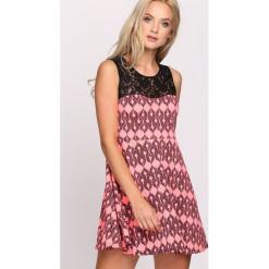 ac9664323561 Długa sukienka wzorzysta bonprix koralowy wzorzysty - Pomarańczowe ...