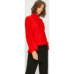 Answear - Sweter Watch Me. Czerwone swetry damskie ANSWEAR, z dzianiny. W wyprzedaży za 89.90 zł.