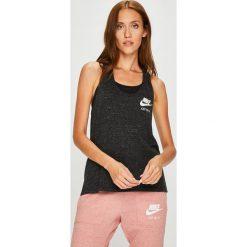 Nike Sportswear - Top. Brązowe topy damskie Nike Sportswear, z bawełny, z okrągłym kołnierzem, bez rękawów. Za 119.90 zł.
