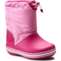 Śniegowce CROCS - Crocband Lodgepoint Boot K 203509 Candy Pink/Party Pink. Buty zimowe dziewczęce Crocs, z materiału. W wyprzedaży za 169.00 zł.