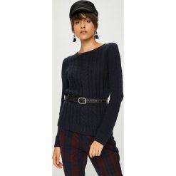 Medicine - Sweter Basic. Czarne swetry damskie MEDICINE, z bawełny, z okrągłym kołnierzem. Za 89.90 zł.