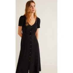 Mango - Sukienka Luna. Szare sukienki damskie Mango, z materiału, casualowe, z krótkim rękawem. Za 229.90 zł.