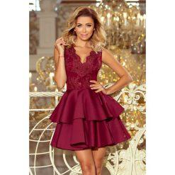 Efektowna sukienka z koronką sf-207. Czerwone sukienki damskie SaF, z haftami, z koronki, wizytowe. Za 249.00 zł.