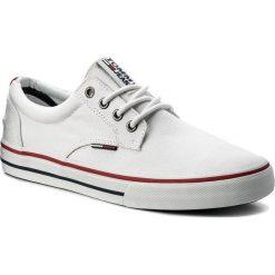 Tenisówki TOMMY JEANS - Textile Sneaker EM0EM00001 White 100. Trampki męskie marki Tommy Jeans. W wyprzedaży za 199.00 zł.