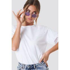 Rut&Circle T-shirt Trash - White. Białe t-shirty damskie Rut&Circle, z okrągłym kołnierzem. Za 72.95 zł.