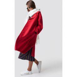Hannalicious x NA-KD Płaszcz oversize z domieszką wełny - Red. Czerwone płaszcze damskie Hannalicious x NA-KD, z wełny. Za 404.95 zł.
