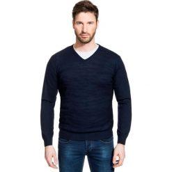 Sweter FABRIZIO SWGR000179. Czarne swetry przez głowę męskie Giacomo Conti, z materiału. Za 229.00 zł.