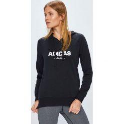 Adidas Performance - Bluza. Czarne bluzy damskie adidas Performance, z aplikacjami, z bawełny. Za 229.90 zł.