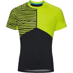 Odlo Koszulka rowerowa Shirt s/s 1/2 zip Morzine czarno-zielona r. M (411492). Koszulki sportowe męskie marki bonprix. Za 176.53 zł.