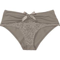 """Figi """"panty"""" bonprix brunatny. Brązowe figi damskie bonprix, w koronkowe wzory, z koronki. Za 34.99 zł."""