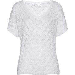 Sweter ażurowy bonprix biały. Swetry damskie marki KALENJI. Za 129.99 zł.