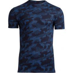 T-shirt męski TSM602 - niebieski - Outhorn. Niebieskie t-shirty męskie Outhorn, na lato, moro, z bawełny. W wyprzedaży za 39.99 zł.