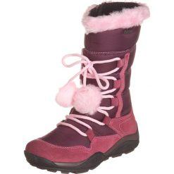 Skórzane kozaki zimowe w kolorze fioletowym. Buty zimowe dziewczęce Zimowe obuwie dla dzieci. W wyprzedaży za 142.95 zł.