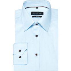 Koszula SIMONE KDNS000360. Niebieskie koszule męskie Giacomo Conti, z bawełny, z klasycznym kołnierzykiem, z długim rękawem. Za 229.00 zł.
