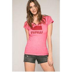 G-Star Raw - Top. Topy damskie G-Star Raw, s, z nadrukiem, z bawełny, z krótkim rękawem, krótkie. Za 169.90 zł.
