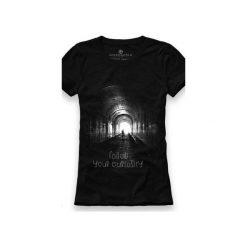 Koszulka UNDERWORLD Ring spun cotton Follow. Czarne t-shirty damskie Underworld, z nadrukiem, z bawełny. Za 59.99 zł.