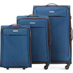 Zestaw walizek 56-3S-46S-90. Niebieskie walizki damskie Wittchen. Za 685.41 zł.
