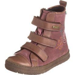 """Skórzane botki """"Limaxx"""" w kolorze brązowo-fioletowym. Botki dziewczęce Zimowe obuwie dla dzieci. W wyprzedaży za 172.95 zł."""