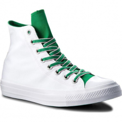Trampki CONVERSE - Ctas Hi 160465C White/Green/Cherry Blossom. Białe trampki męskie Converse, z gumy. W wyprzedaży za 179.00 zł.