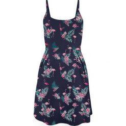 Sukienka shirtowa z nadrukiem bonprix ciemnoniebieski - flamingi. Niebieskie sukienki damskie bonprix, z nadrukiem. Za 37.99 zł.