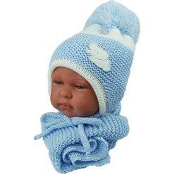 Czapka niemowlęca z szalikiem CZ+S 045C niebieska. Czapki dla dzieci marki Reserved. Za 40.78 zł.