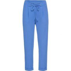 Spodnie ze sznurowaniem bonprix niebieski. Spodnie materiałowe damskie marki DOMYOS. Za 49.99 zł.