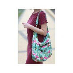 Kolorowa torba palmy flamingi liście tropikalne. Szare torby na ramię damskie Karolina audycka. Za 179.00 zł.
