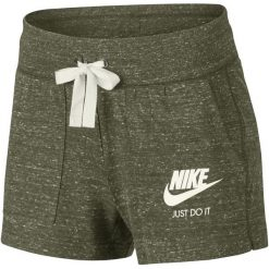 Nike Krótkie Spodenki Damskie W Nsw Gym Vntg Short/Olive Canvas/Sail M. Brązowe szorty damskie Nike, z bawełny. Za 119.00 zł.