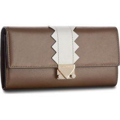 Duży Portfel Damski EMPORIO ARMANI - Y3H008 YDC3A 82280 Leather/Grey/Black. Brązowe portfele damskie Emporio Armani, ze skóry. W wyprzedaży za 659.00 zł.