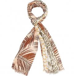 """Szal """"Tanzania"""" w kolorze jasnobrązowym - 180 x 100 cm. Brązowe szaliki i chusty damskie Scottage, z materiału. W wyprzedaży za 40.95 zł."""