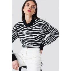 NA-KD Trend Sweter z dzianiny Zebra - Black,White. Białe swetry damskie NA-KD Trend, z dzianiny. Za 202.95 zł.