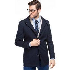 Płaszcz FLORIANO PSGS000067. Niebieskie płaszcze męskie Giacomo Conti, klasyczne. Za 799.00 zł.