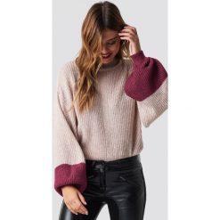 Trendyol Sweter z bufiastym rękawem - Pink. Różowe swetry damskie Trendyol, z dzianiny. Za 100.95 zł.